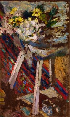 Flowers on a Stool / Edouard Vuillard - circa 1903-1904