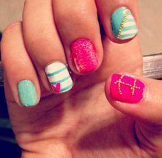 sailor nails, so cute!!