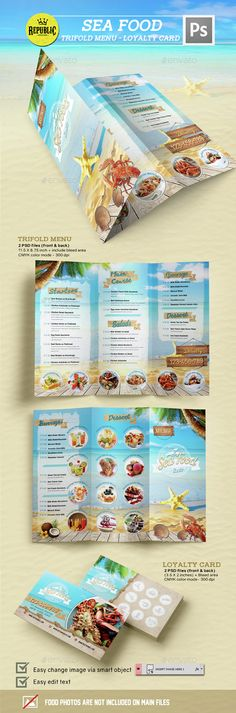 Seafood Restaurant 2 — Photoshop PSD #beach #seafood flyer • Available here → https://graphicriver.net/item/seafood-restaurant-2/15351606?ref=pxcr