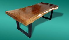 Live Edge Dining Table Acacia Wood Live Edge Reclaimed Solid Slab Rare by flowbkk on Etsy