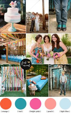 Rustic Teal Wedding { Fall teal wedding }