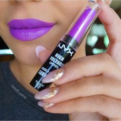 Ooo la la, loving this vibrant purple @marcello_makeup wearing our High Voltage Lipstick in 'Twisted' || #nyxcosmetics #regram