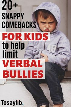 Snappy Comebacks for Kids to Help Limit Verbal Bullies It should not happen, but kids do get bullied.Whether this is from someone who is intentionally trying to cause hurt or someone who just doesn't understand the hurt they have or do suffer themselves. Comebacks For Kids, Comebacks For Bullies, Comebacks Sassy, Snappy Comebacks, Clever Comebacks, Verbal Bullying, Putting Others Down, Youth Lessons, Words Hurt
