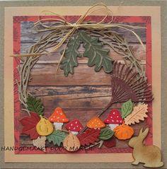 Autumn Wreaths, Marianne Design, Thanksgiving Cards, Altenew, Fall Cards, Penny Black, Diy Cards, Fall Halloween, Grapevine Wreath
