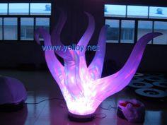 Inflatable fire column lighting | #EventDecor