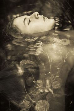 floating in water. ophelia