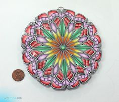 Polymer clay MANDALA | Flickr - Photo Sharing!