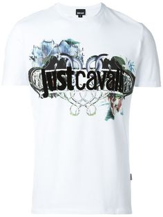 Shop Just Cavalli logo print T-shirt in Vitkac from the world's best independent boutiques at farfetch.com. Shop 400 boutiques at one address.