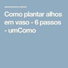 Como plantar alhos em vaso - 6 passos - umComo Como Plantar Salsa, Aloe Vera, E Flowers, Gardening, Mj, Biscuit, Sweet, Crafts, Tops