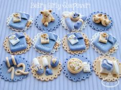 Beary Girly Sleepover Cupcake Toppers   by Lynlee's