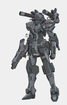 Imperial Mobile Suit (heavy type) by on DeviantArt Futuristic Armour, Futuristic Art, Robot Concept Art, Armor Concept, Armadura Sci Fi, Mecha Suit, Cool Robots, Sci Fi Armor, Gundam Art