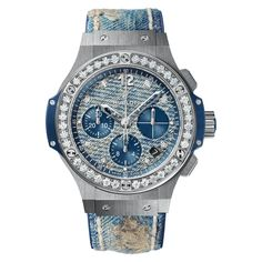 #Hublot Big Bang Jeans Stainless Steel Diamonds #Watch
