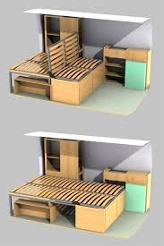 """Tiny House Plans 311874342944719409 - Résultat de recherche d'images pour """"banquette camion amenage"""" I would put the back portion up and have a wider sitting platform. This would leave the van…. How To Make My Bed Wider"""