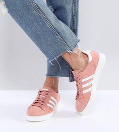 ADIDAS ORIGINALS ADIDAS ORIGINALS CAMPUS SNEAKERS IN PINK - PINK. #adidasoriginals #shoes #
