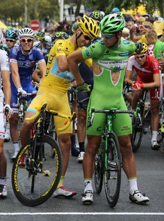 Peter Sagan and Vinc