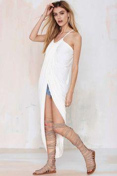 Madison Square Athena Wrap Maxi Dress | Shop Dresses at Nasty Gal