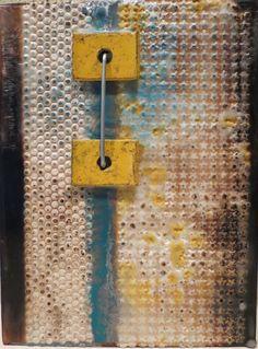 Staples  original encaustic artwork by kparsley on Etsy
