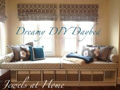 window seats with trundle bed | This window seat daybed is so inviting and simple to assemble. Details ...
