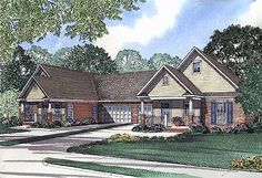 Tour the Forder Hill Country Duplex that has 3 bedrooms and 2 full baths from House Plans and More. See highlights for Plan House Plans And More, Family House Plans, Country House Plans, Duplex Design, House Design, Master Suite Bedroom, Duplex Floor Plans, Multi Family Homes, New Home Designs