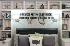 """Every once in a while we do a project that has us wondering, """"why the heck haven't we tried this before!"""" and using craft crates to make DIY built-in shelves was one of those projects! I think I said 250 times, """"This is so stinkin' easy!"""" This project was part of our coastal bedroom makeover …"""
