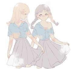 Character Art, Character Design, Anime Best Friends, Anime Child, Couple Art, Kawaii Anime Girl, Manga Drawing, Special Girl, Pretty Art