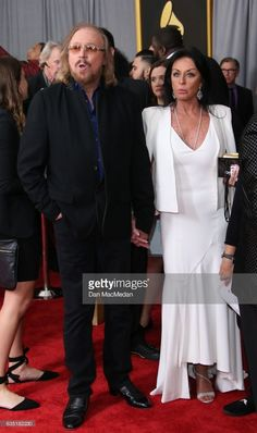 Singer Barry Gibb arrives at The 59th GRAMMY Awards at Staples Center on February 12, 2017 in Los Angeles, California.