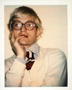 David Hockney, polaroid by Andy Warhol, 1973