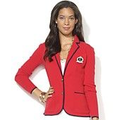 Lauren Ralph Lauren Plus Size Jacket, Contrast-Trim Cotton Blazer