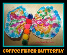 Simple Butterfly Spring Craft Project: from SPRING RoundUP at RainbowsWithinReach #Kinderchat