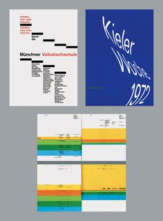 Rolf Müller is a German designer who studied with Josef Müller-Brockmann, and from 1967–72 he worked with Otl Aicher on the corporate design of the 1972 Munich Olympic Games. Stellar work. Definitely one of the greats.
