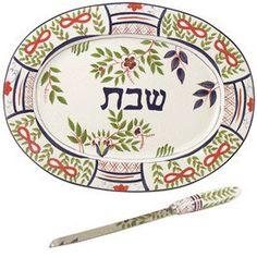 Challah plate and knife set