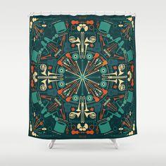 Mandala music and sound Shower Curtain by Budi Satria Kwan - $68.00