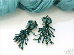 Spirala beading: Under the Sea - Earrings Designer Earrings, Under The Sea, Beading, Etsy, Jewelry, Fashion, Moda, Beads, Jewlery