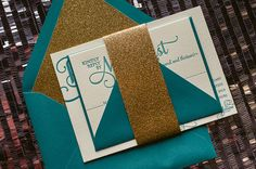 Peacock Teal and Gold Glitter Wedding Invitations wedding colors september / fall color wedding ideas / color schemes wedding summer / wedding in september / wedding fall colors Glitter Wedding Invitations, Letterpress Wedding Invitations, Gold Wedding Invitations, Rustic Invitations, Invites, Teal Gold Wedding, Copper Wedding, Teal And Gold, Sparkle Wedding