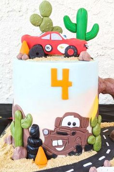 Don't miss the fantastic Disney Cars-themed birthday cake topped with a fondantLightning McQueen at this drive-by Cars birthday party! See more party ideas and share yours at CatchMyParty.com #catchmyparty #partyideas #4favoritepartiesoftheweek #disneycars #lighningmcqueen #cars #carscake #carsbirthdayparty #drivebycarsparty Disney Cars Party, Disney Cars Birthday, Cars Birthday Parties, Birthday Ideas, Tattoo Baby Shower, Baby Shower Tea, Lightning Mcqueen Party, Paper Party Decorations, Themed Birthday Cakes