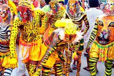 Kerala Onam Festival Pulikkali (Tiger Dance)