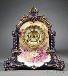 528: Ansonia China Clock, Ansonia Clock Company, Brookl