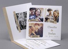 Der schönste Tag, angekündigt mit Ihren schönsten #Erinnerungen #Hochzeitskarte M06-190 #Fotoeinladungskarte, #Einladungskarte, #Kreativehochzeit