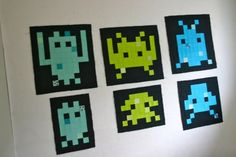 Space Invaders Quilt Blocks