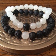 Balance couple bracelets yin yang