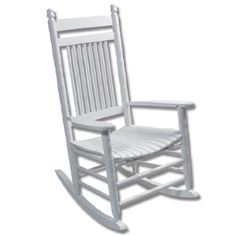 Enjoy the comfort of an authentic Cracker Barrel Old Country Store(R) rocking chair in your own home with our Pure White Rocker with slat seat. Made of quality hardwood for a fine painted finish, the Ready-to-Assemble rocker is the exact same quality rocker that you'll find on our front porches.