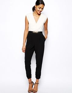 Oh to get thin enough to wear this! River Island Color Block Jumpsuit