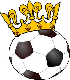 Princess of the Soccer Pitch | Soccer ball with crown clip art