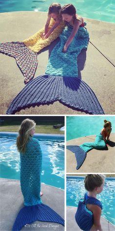 Mermaid beach towel | mermaid | summer DIY | crochet patterns | creative crochet
