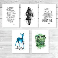 Severus Snape Print Harry Potter set of 5 prints, valentines day gift, Always snape Print, Harry Potter Cool Man Gift, Movie Poster, ET271 by InstantGoodVibes on Etsy