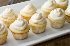 Lemon cupcakes with silky buttercream