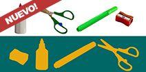 Juegos para bebes y niños: Siluetas: utiles escolares! Chicos jugando, mamás y papás acompañando