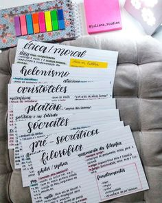 Pin by Juju Silva on Studies School Motivation, Study Motivation, Studyblr, Study Flashcards, Study Organization, Study Planner, Exam Study, Bullet Journal Ideas Pages, Lettering Tutorial