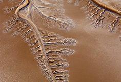 Aerial view of dry Colorado River Delta
