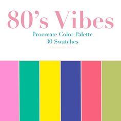 Retro Color Palette, Color Schemes Colour Palettes, Colour Pallette, Bright Color Schemes, Color Combinations, Bright Colors, Geeks, Logo Color, Color Swatches